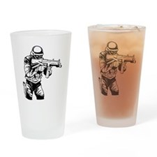 SWAT Team Officer Drinking Glass