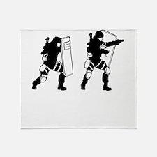 SWAT Team Throw Blanket