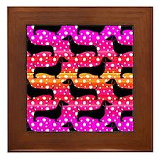 Rainbow Dachshunds Framed Tile