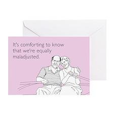 Equally Maladjusted Greeting Card