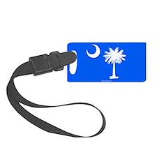 SC Palmetto Moon State Flag Blue Luggage Tag