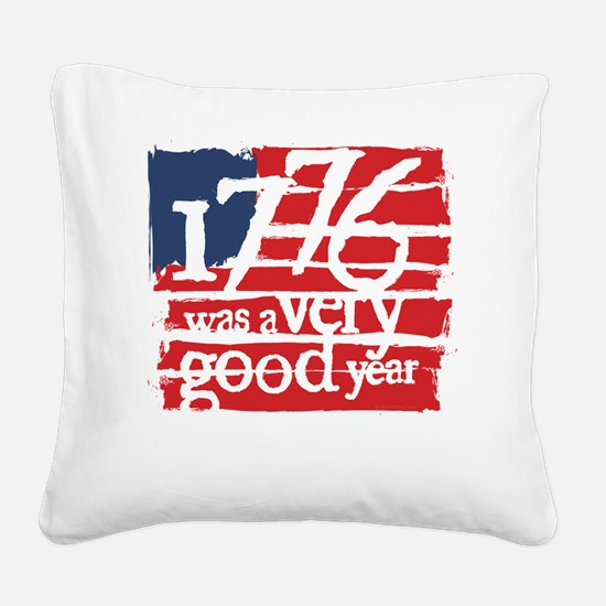 1776 r/w Square Canvas Pillow