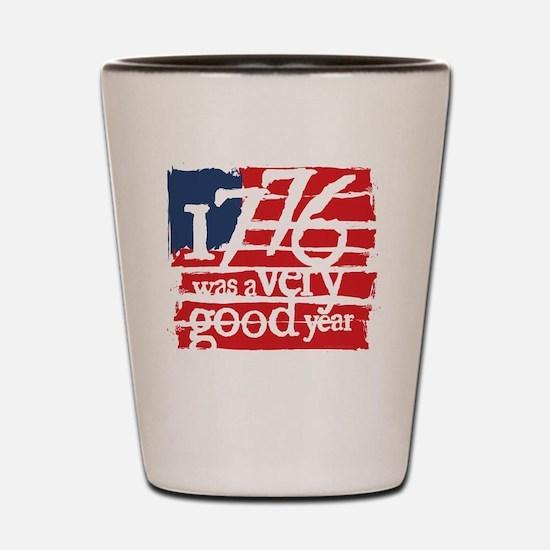 1776 r/w Shot Glass