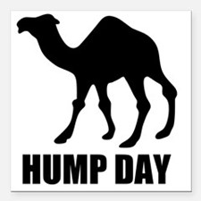 "Hump Day Square Car Magnet 3"" x 3"""