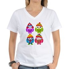 Adorable Retro Winter Owls Shirt
