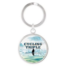 TOP Cycling Slogan Round Keychain