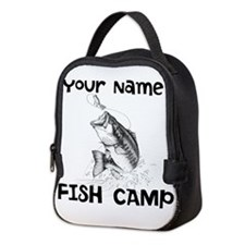Personlize Fish Camp Neoprene Lunch Bag