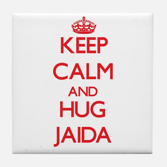 Keep Calm and Hug Jaida Tile Coaster