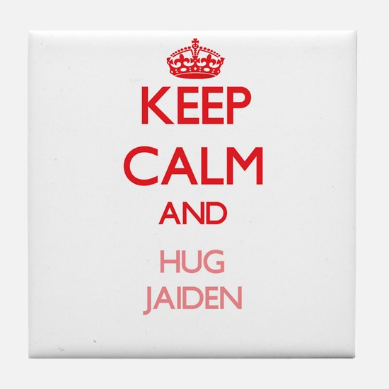 Keep Calm and Hug Jaiden Tile Coaster