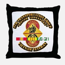 8th Transportation Group Throw Pillow