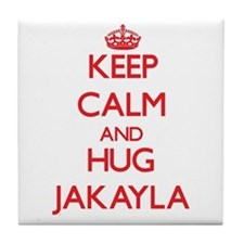 Keep Calm and Hug Jakayla Tile Coaster