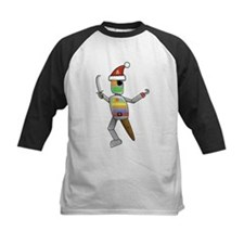 Pirate Robot Santa Baseball Jersey