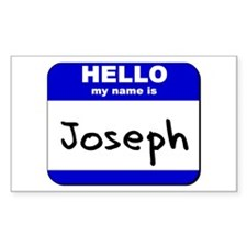 hello my name is joseph Rectangle Decal