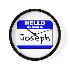 hello my name is joseph  Wall Clock