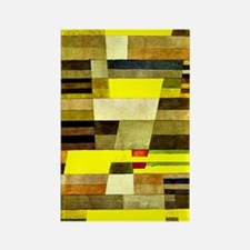 Klee: Monument, Paul Klee abstrac Rectangle Magnet