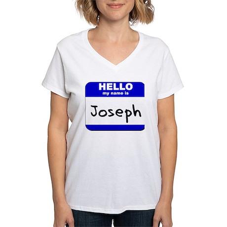 hello my name is joseph Women's V-Neck T-Shirt
