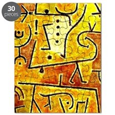 Klee: Red Waistcoat, abstract art painting Puzzle