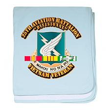 DUI - 25th Aviation Battalion w SVC Ribbon baby bl