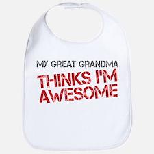 Great Grandma Awesome Bib