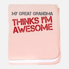 Great Grandma Awesome baby blanket