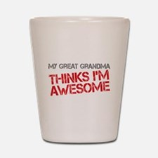 Great Grandma Awesome Shot Glass