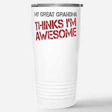 Great Grandma Awesome Stainless Steel Travel Mug