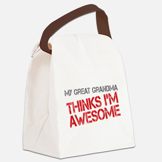 Great Grandma Awesome Canvas Lunch Bag