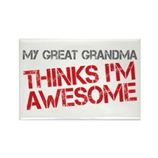 Great Grandma Awesome Rectangle Magnet