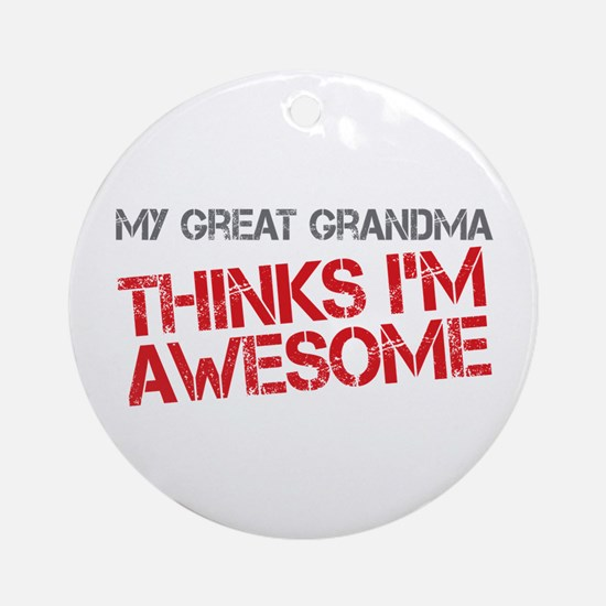 Great Grandma Awesome Ornament (Round)