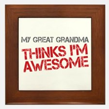 Great Grandma Awesome Framed Tile