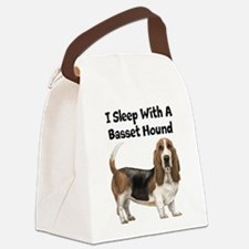 I Sleep With A Basset Hound Canvas Lunch Bag