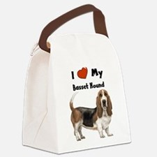 I Love My Basset Hound Canvas Lunch Bag