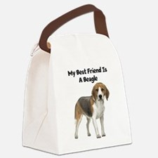 My Best Friend Is A Beagle Canvas Lunch Bag