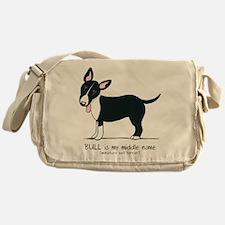 Bull Terrier Name Messenger Bag