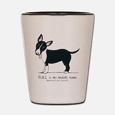 Bull Terrier Name Shot Glass