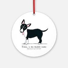 Bull Terrier Name Ornament (Round)