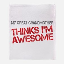 Great Grandmother Awesome Throw Blanket