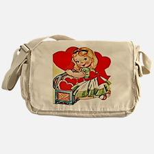 vintage valentine Messenger Bag