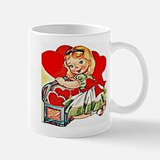 vintage valentine Mugs