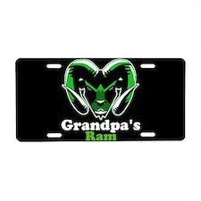 Grandpa's Ram Aluminum License Plate