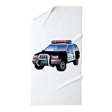Police Car Beach Towel