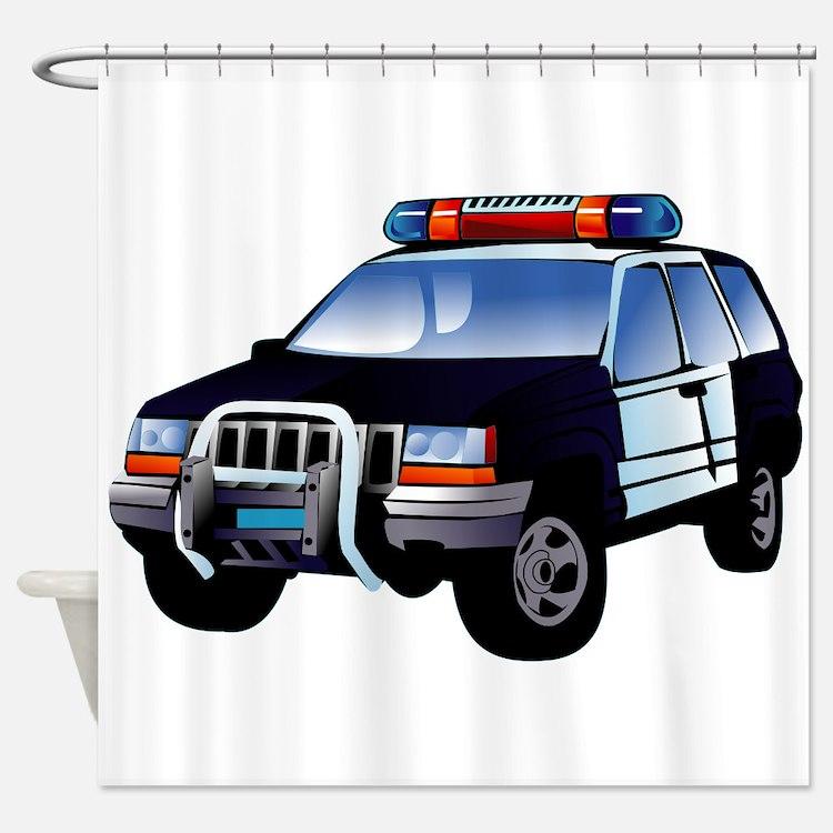 Police Car Shower Curtain