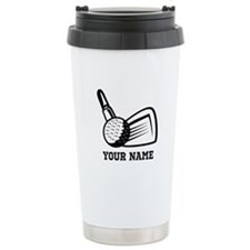 Personalized Name Golf Design Thermos Mug