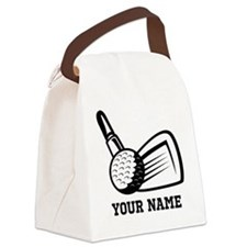 Personalized Name Golf Design Canvas Lunch Bag