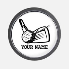 Personalized Name Golf Design Wall Clock