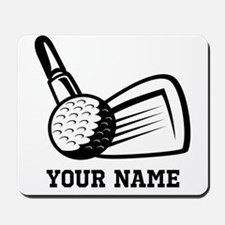 Personalized Name Golf Design Mousepad