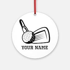 Personalized Name Golf Design Ornament (Round)