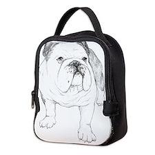 Bulldog Art Neoprene Lunch Bag
