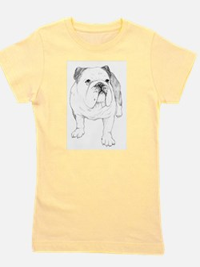 Bulldog Art Girl's Tee