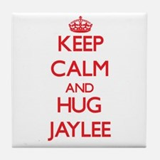 Keep Calm and Hug Jaylee Tile Coaster